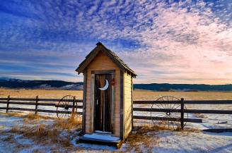 Winter Outhouse