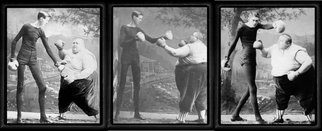 vintage-boxing triptych