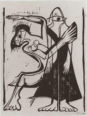 453px-Ernst_Ludwig_Kirchner_-_Maskentanz_-_1929