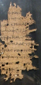 fragmented papyrus