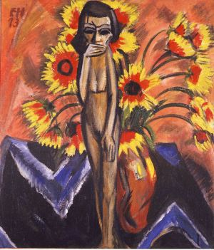 Erich Heckel, Still Life with Wooden Figure, 1913