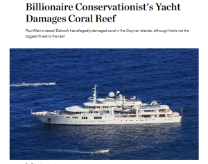 Paul Allen Yacht + National Geographic headline