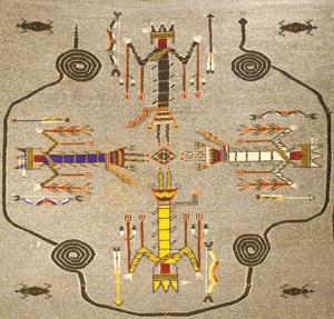 Navajo blanket detail GIMP