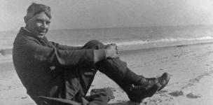 Carl Sandburg on the Beach - 637b557